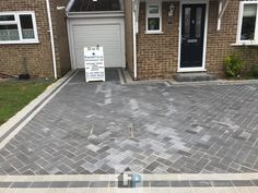Here is another block paving installation completed by your local paving contractor for Portsmouth. Replaced the old driveway area. Extended the entire area. Put down a new Type 1 hardcore . Front Driveway Ideas, Driveway Design, Driveway Landscaping, Block Paving Driveway, Driveway Installation, Portsmouth, Garden Design, Backyard, Driveways