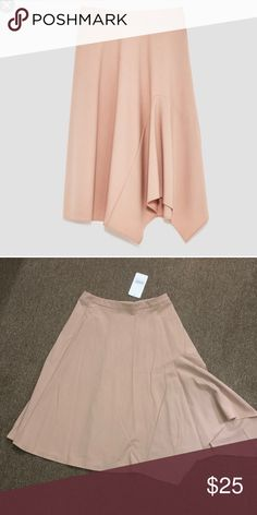 32caf700 NWT Zara cape like asymmetrical skirt NWT Zara cape like asymmetrical  skirt. Zipper in the