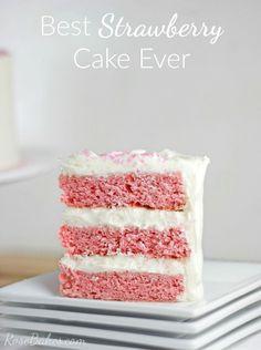 Best Strawberry Cake Ever RoseBakescom