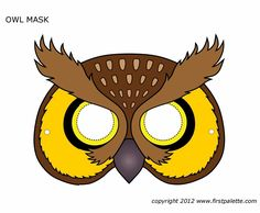 Let the kids make this Printable Owl Mask and see all of the fun they will have portraying their favorite woodland feathered friend. Printable Halloween Masks, Printable Animal Masks, Owl Mask, Bird Masks, Theme Carnaval, Black And White Owl, Paper Mask, Mask Template, Owl Crafts