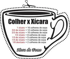 Flor de Sal: Colher X Chávena ( ou xícara) Cooking Time, Cooking Recipes, Healthy Recipes, Good Food, Yummy Food, Food Hacks, Sweet Recipes, Food And Drink, Tasty