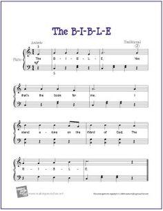 The B-I-B-L-E (Bible Song) | Free Sheet Music  for Easy Piano (Scheduled via TrafficWonker.com)