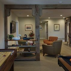 Basement flooring ideas give homeowners many different potential routes that they can take for basement renovations, but for some these extra choices simply complicate matters. Basement Plans, Basement Bedrooms, Basement Flooring, Basement Renovations, Home Renovation, Home Remodeling, Basement Pole Ideas, Dark Basement, Rustic Basement