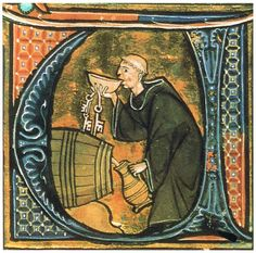 Snoeperd.    Medieval monk stole key to beer cellar and is celebrating St. Patricks Day in a very modern way (BLSloane2435,14th c).