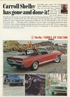 Ford 1968 Shelby Cobra GT 500 Convertible Ad