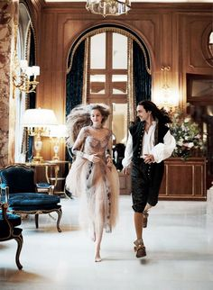 A look inside the newly renovated Ritz Paris with actors Anna Brewster, Noémie Schmidt, and George Blagden. Photographed by Mikael Jansson, Vogue, July George Blagden, Foto Fashion, Fashion Shoot, New Fashion, Editorial Fashion, Style Fashion, Vogue Fashion, Anna Brewster, Alexander Vlahos
