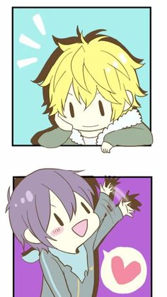 Yato and Yukine as chibi's - They're SO cute! <3  || Noragami