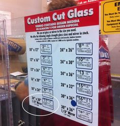 Custom mirror or glass - had no idea they did this at LOWES.  I've been under a rock apparently....oh, and they offer a military discount! Woot!