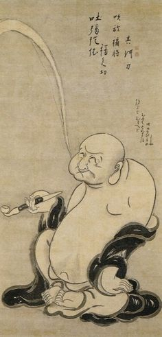 Hakuin Ekaku (1686-1769), Hotei and Otafuku