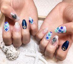 いいね!18件、コメント1件 ― by dannailさん(@an.reve)のInstagramアカウント: 「tile art × race × concho . . #nail #nails #gelnail #gel #instanail #instanails #instagood…」