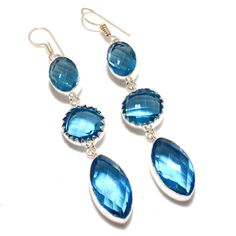 Silver Earrings – Blue Topaz -925 Silver Earrings-Personalized Gift  – a unique product by 925silvercollection on DaWanda