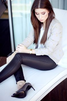 Black Pant, Neutral Blazer
