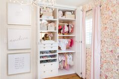 Project Nursery - Ali Fedotowsky's Nursery Closet - Closet Design by LA Closet Designs