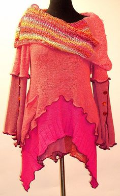 Coral and Pink Cowl Tunic Anyone out there Can you make me one?