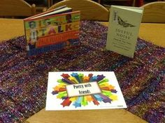 Poetry Party in the Library! Ideas to celebrate Poem in your Pocket Day and Poetry month.