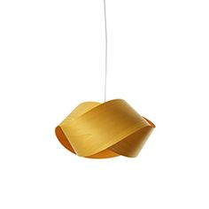 Handcrafted suspension lamp designed by the designers Ray Power and Marivi Calvo. The lamps are made of a simple twisted piece of wood veneer. Two different designs are possible depending on the direction of the torsion. The lampshades are available in 9different wood veneer finishes. Home, contract, hospitality.