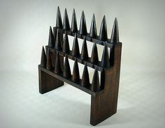 Diy Holz, Knife Block, Etsy, Display, Inspiration, Exhibitions, Hang In There, Rings, Decorations