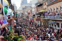 Mardi Gras, Bourbon Street, New Orleans