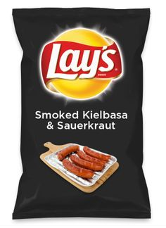 Wouldn't Smoked Kielbasa & Sauerkraut be yummy as a chip? Lay's Do Us A Flavor is back, and the search is on for the yummiest flavor idea. Create a flavor, choose a chip and you could win $1 million! https://www.dousaflavor.com See Rules.