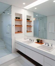 60 Nichos para Banheiros - Ideias e Fotos Lindas #banheiro #nichos #colorido #suspenso