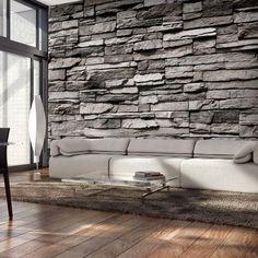 Fotomural imitando pared de piedra