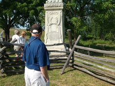 The 8th Ohio monument at the Bloody Lane at Antietam.