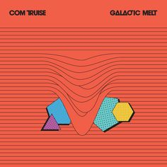 """One final one for Com Truise's """"Gallactic Melt."""" No word on artist, but a synthesis of 80's fashion forms and colours with a little 70's spacey French design and a very second decade of the 2000's overall feel."""