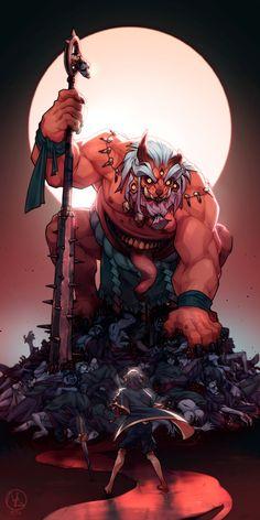 Japanese Mythical Creatures, Mythological Creatures, Fantasy Creatures, Fantasy Character Design, Character Concept, Character Art, Concept Art, Fantasy Races, Fantasy Warrior
