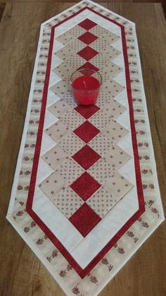 more hearty good wishes table runner This striking Scandinavian themed patchwork table runner in Just because they are by jdcreativehands on etsy – Artofit Quilt Pattern how to quilt the twisted pole runner in two c Quilted Table Runners Christmas, Patchwork Table Runner, Christmas Patchwork, Christmas Runner, Table Runner And Placemats, Quilt Table Runners, Quilted Table Runner Patterns, Christmas Log, Bed Runner