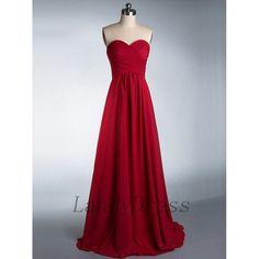 Red Prom Dresses, Sweetheart Prom Dress, Chiffon Long Prom Dress Formal/Evening Dresses
