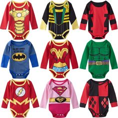 cce2b7a76d Baby Girl Boy Bodysuit Superhero Long Sleeves Price  17.00   FREE Shipping   jargot