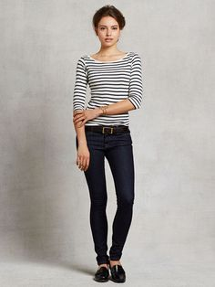 Small Trades Classic Striped 3/4 Sleeve