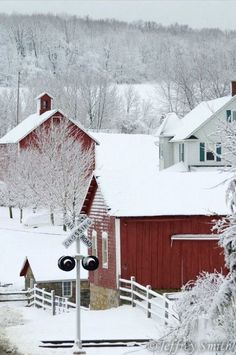 Winter in a small town.
