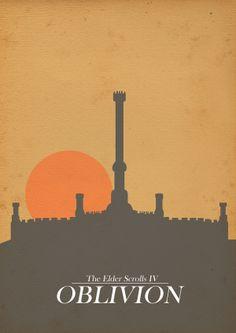 Game poster for the Elder Scrolls Oblivion