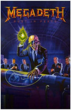 A great poster of Ed Repka's album cover art from Megadeth's Rust in Peace! Take No Prisoners with this 80's Metal classic! Ships fast. 11x17 inches. Check out the rest of our awesome selection of Meg