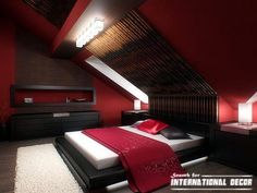 R I T H 🏠 Japanese style bedroom interior designs, ideas, furniture Japanese Inspired Bedroom, Japanese Style Bedroom, Japanese House, Master Bedroom Bathroom, Master Bedroom Interior, Bedroom Red, Oriental Bedroom, Interior Exterior, Interior Design