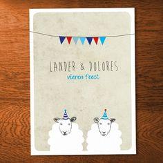 Invitation party - sheep - illustration