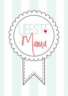 Liefste Mama Rozet - Moederdag kaarten - Kaartje2go