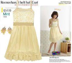 SUBASTAS TERMINAN EL DIA DE MAÑANA  APROVECHENLAS  Vestido Amarillo Romantico *moda Asiatica* - $ 50.00
