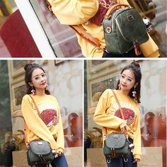6437b5930d Retro Multi-function Small Square PU Shoulder Bag Handbag Backpack Diy  Backpack