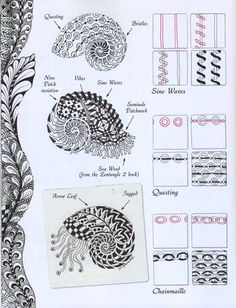 zentangle art dolls | ... of this relaxing and rewarding art form that is perfect for all ages.  Apparently this type of doodling is called zentangle? Can be applied to shells or any drawing.