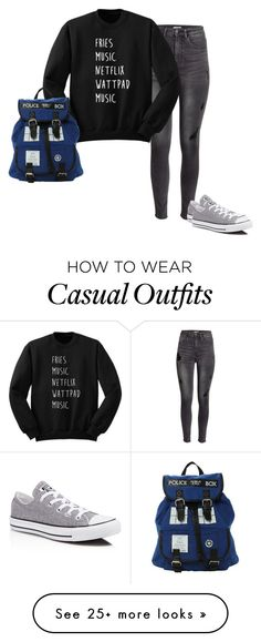 """""""Casual"""" by blackveilbridesbvbsixx on Polyvore featuring H&M and Converse"""