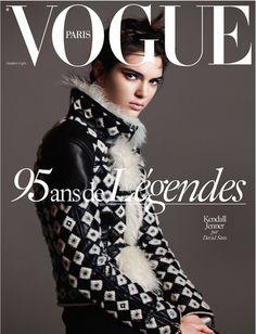Kendall Jenner par David Sims pour les 95 ans de Vogue Paris