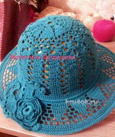 Вязаные крючком шляпки. Работы Валентины вязание и схемы вязания ♡
