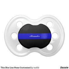 Thin Blue Line Name Customized Pacifier