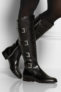 0cd02d5a7f4d MICHAEL Michael Kors - Tamara leather knee biker boots