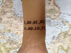 Coordinates of where you grew up. So you never forget who you are and where you are from