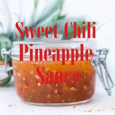Sweet Chili Pineapple sauce is a twist to the popular Thai Sweet Chili sauce. Made with just a few basic ingredients, this Sweet and Spicy Chili Sauce. Thai Sauce, Thai Sweet Chili Sauce, Spicy Chili, Thai Dipping Sauce, Sweet Chili Chicken, Sweet And Spicy Sauce, Dipping Sauces, Red Chili, Pineapple Sauce