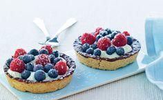 De små sprøde tærter smager pragtfuldt og kan bages, et par dage før de skal bruges. Cremen er frisk og lækker med revet citronskal