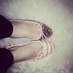 Anniel Ballerina Shoes Glitter Stripes www.annielmoda.com